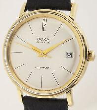 DOXA AUTOMATIC 21 JEWELS  IN 14ct GOLD - HERREN ARMBANDUHR AUS DEN 1960er JAHREN