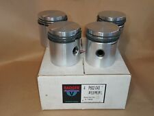 NOS BADGER BRAND 040 PISTON SET WITH RINGS FOR JEEP WILLYS
