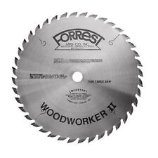 """FORREST 10"""" WOODWORKER II TABLE SAW BLADE WWII-10407125 5/8 Bore .125 Kerf  New"""
