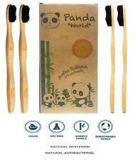 Spazzolino Bambu - Set Di 4 Spazzolini Ecologici Di Bamboo - Eco, Bio, Senza BPA