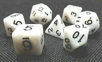 RPG Würfel Set 7-teilig Poly DND Rollenspiel weiß dice4friends w4-w20 Tabletop
