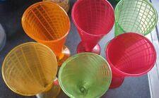 Plastic Colourful Ice cream Cones Pots x6 From Range Used