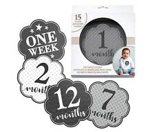 Black and Grey Baby Belly Stickers (Set of 1-15)