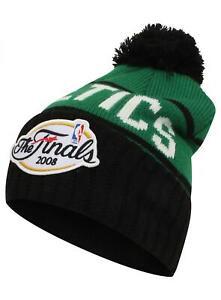 Men Boston Celtics Championship Beanie -Bobble Hat - Mitchell & Ness