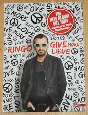 RINGO STARR Give More Love 2017 LP CD AD Advert Promo magazine beatles clipping