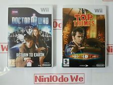Dr Who Doctor Return to Earth + Top Trumps (Wii) Doctor woo game bundle