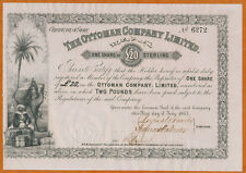 Türkei Turkey  The Ottoman Company Limited 1865  Aktie 20 Sterling  London ( 29