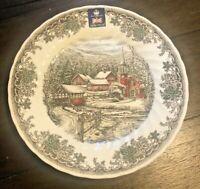 "NEW! Churchill Royal Wessex Village Church Porcelain 10"" Dinner Plates Set of 6"