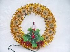 Vintage Beacon 18 LIGHT CANDLE TREE TOP WREATH Topper Christmas Lighted