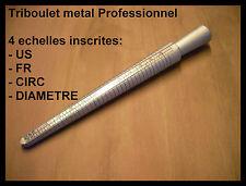 triboulet de bijoutier metal alu (sans baguier) 4 echelles dont française