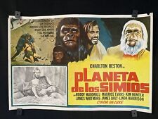 "1968~ PLANET OF THE APES~ Charlton Heston~ Orgnl MX Movie Poster~22""x15"""