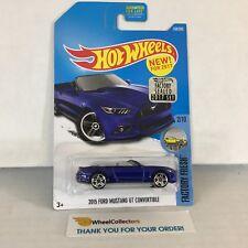 2015 Ford Mustang GT Convertible #7 * BLUE * Hot Wheels 2017 Factory Set * JB15