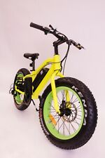"BMX Electric Bike Fat Tire 20"" All Terrain 500W Samsung 36V Green / Yellow"