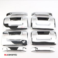 4 Door Handle Cover Trim ABS Chrome Plated Fits Ford F150 Lincoln Mark Crew Cab