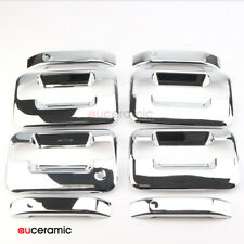 Qty 4 Door Handle Cover ABS Chrome Fits Ford F150 Lincoln Mark Crew Cab 4-Door