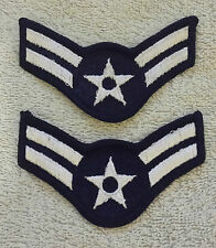 US AIR FORCE RANK PATCHES PAIR Airman First Class Stripes Badge/Insignia USAF