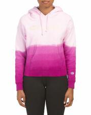 NEW Champion Reverse Weave ombre tie dye pink Chest Logo hoodie sweatshirt SMall