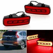 For 2015-2016 Honda CRV Rear Bumper Reflector Red LED Foglight/Brake Tail Lights