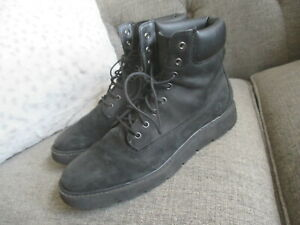TIMBERLAND WITH SENSORFLEX WOMENS BLACK LEATHER ANKLE BOOTS, SIZE 11B
