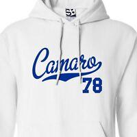 Camaro 78 Script & Tail HOODIE - Hooded 1978 Muscle Car Sweatshirt All Colors