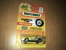 1991 Matchbox Corvette T Top Yellow In Package