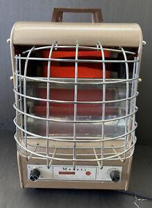 Vtg Markel 198-TN Fan-Glo Heetaire 1650W Portable Heater Bronze TESTED Art Deco