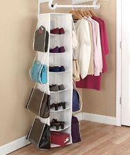 Revolving Storage Organizer 4 Sides Purses & Shoes Organizer Accessories Holder