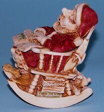 "Harmony Kingdom box Tjae ""Jingle Bell Rock"" ret 1998 Nib Santa humor Calvesbert"