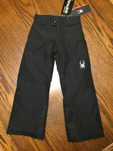 NEW-Spyder-Boy's Siege Pants-Insulated-Kyd's XS-Black-Style 235038-MSRP $89