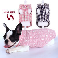 Fashion Winter Dog Coats Soft Warm Cotton Pet Jacket Clothes for French Bulldog