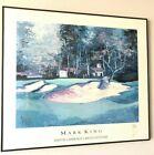 Mark King Bunker Shot Golf Signed Poster Martin Lawrence Galleries 1990