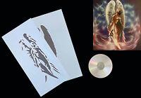 Airbrush Schablone Step by Step/ Stencil /Fantasy/#  0267 Racheengel mit Anl. CD