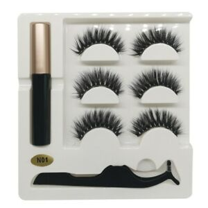 Magnetic False Eyelashes Natural Eye Lashes Extension Liquid Eyeliner Makeup
