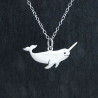 Narwhal Charm Necklace 925 Sterling Silver Arctic Whale Unicorn of the Sea Gift