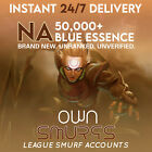 NA League of Legends LOL Account 50K+ BE LVL30 Unranked SMURF <br/> 🎆SALE🎆 🚚Instant Delivery🚚  🛡️Warranty🛡️ 🥇TOP🥇