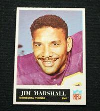 1965 Philadelphia Jim Marshall Minnesota Vikings Football Card #107 EM centered