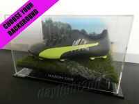 ✺Signed✺ MASON COX Football Boot PROOF COA Collingwood Magpies 2019 Guernsey