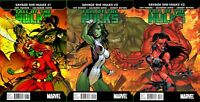 Savage She-Hulks #1-3 (2010) Marvel Comics - 3 Comics
