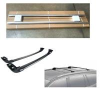 For 16-19 Honda Pilot Roof Rack Silver Side Rails+Black Cross Bar OE Style 4PCS