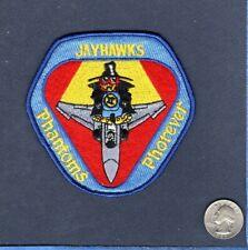 184th TFG 127th TFS JAYHAWKS Kansas ANG F-4 PHANTOM USAF Squadron Patch