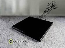 Nero Assoluto 5cm stark Entkopplungsplatte Gerätebasis Lautsprecher Granit