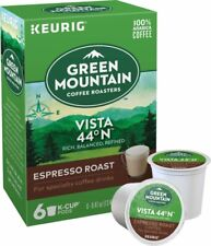 2 x Keurig Green Mountain Vista 44 N Coffee K-Cups - Espresso Roast (Box of 6)