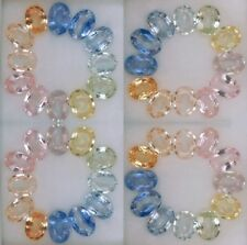 Superbe lot de 12 Saphirs multicolores du Sri Lanka, taille ovale/5,47 carats