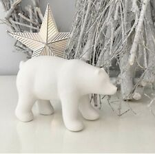Porcelain Polar Bear Christmas Decoration Ornament Figurine Decorative Gift