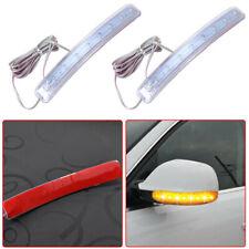2x Yellow LED Car Side Mirror Amber Indicator Soft Turn Signal Light Waterproof
