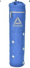 Reebok Yoga Mat Bag Adjust Strap Modern Cross Pattern Zip Pocket Blue NWT
