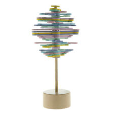 Wooden Rotating Lollipop Magic Rotating Toy Home Office Decor Macaron Color