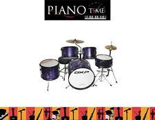 New DXP 5 Piece Junior Drum Kit - Purple Kids Drum Set with Stool  - Drumkit