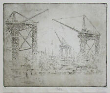 Joseph Pennell~ Orig. Pencil Signed Etching South Kensington Whistler Biographer