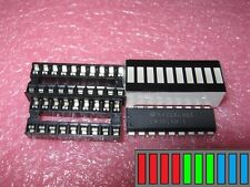 LM3914 + LED-Bargraph rot /grün / blau + passende IC-Fassungen